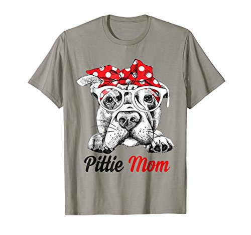 Pit Bull Terrier T-shirt - Pittie Mom American Pit Bull Terrier T-Shirt