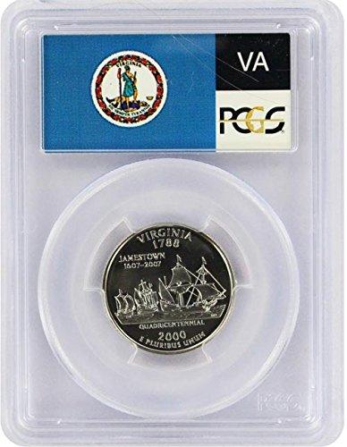 2000 Virginia State S Silver Proof Quarter PR-69 PCGS