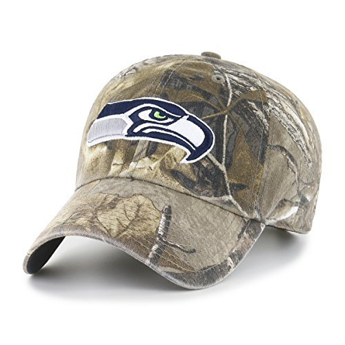 NFL Seattle Seahawks Realtree OTS Challenger Adjustable Hat, Realtree Camo, One Size -