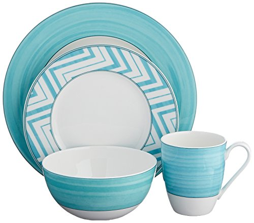 Mikasa Cadence Teal 4-Piece Place Setting, Service for 1