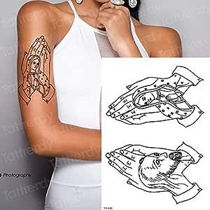 Handaxian 3 unids-Cuerpo de Pantera Negro Tatuaje Leopardo ...