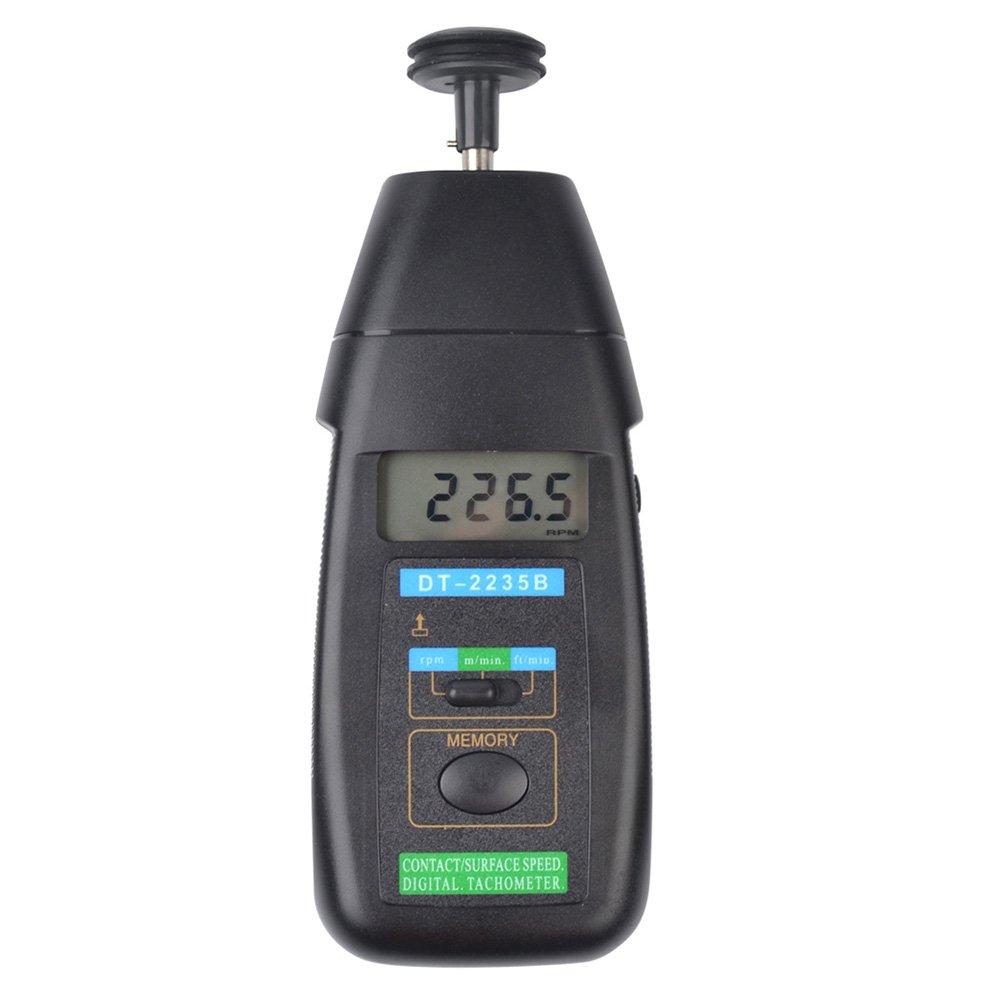 Ckeyinデジタルタコメーター 接触式 回転計 テスター 回転数測定用