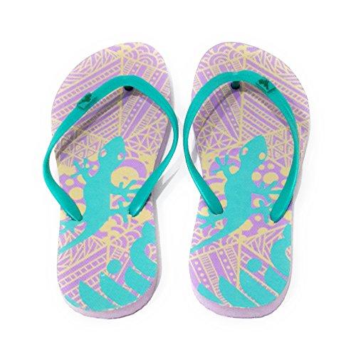 Viele Farben Badeschuhe und und Flip Türkis Strand Band Modelle Damen Zehentrenner Dusch BRANDELIA Flops Sommer Lila Freibad Salamander vOBCn1q