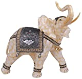 StealStreet Marble Cream Toned Thai Elephant Figurine Statue (Right), 18''