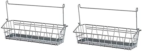 Ikea Steel Wire Basket Spice Rack Hang or Free Standing Kitchen Storage Holder Bygel Pack of 2