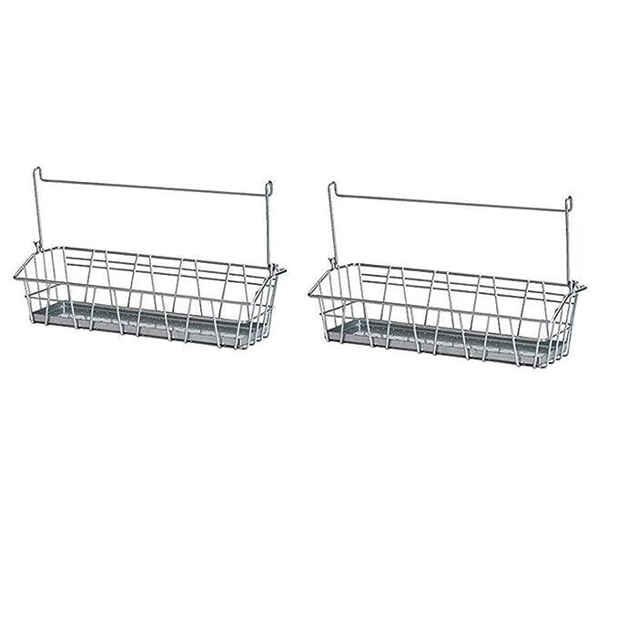 Amazon.com: Conjunto de 2 IKEA cesta de alambre de acero ...