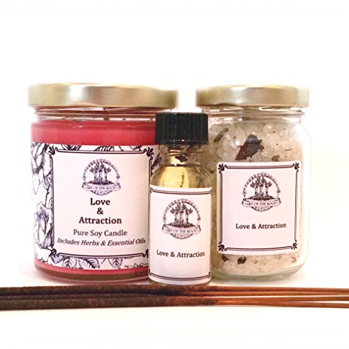 (Love & Attraction Spell Kit for Romance, Commitment, Passion & Relationships Hoodoo Wiccan Pagan)