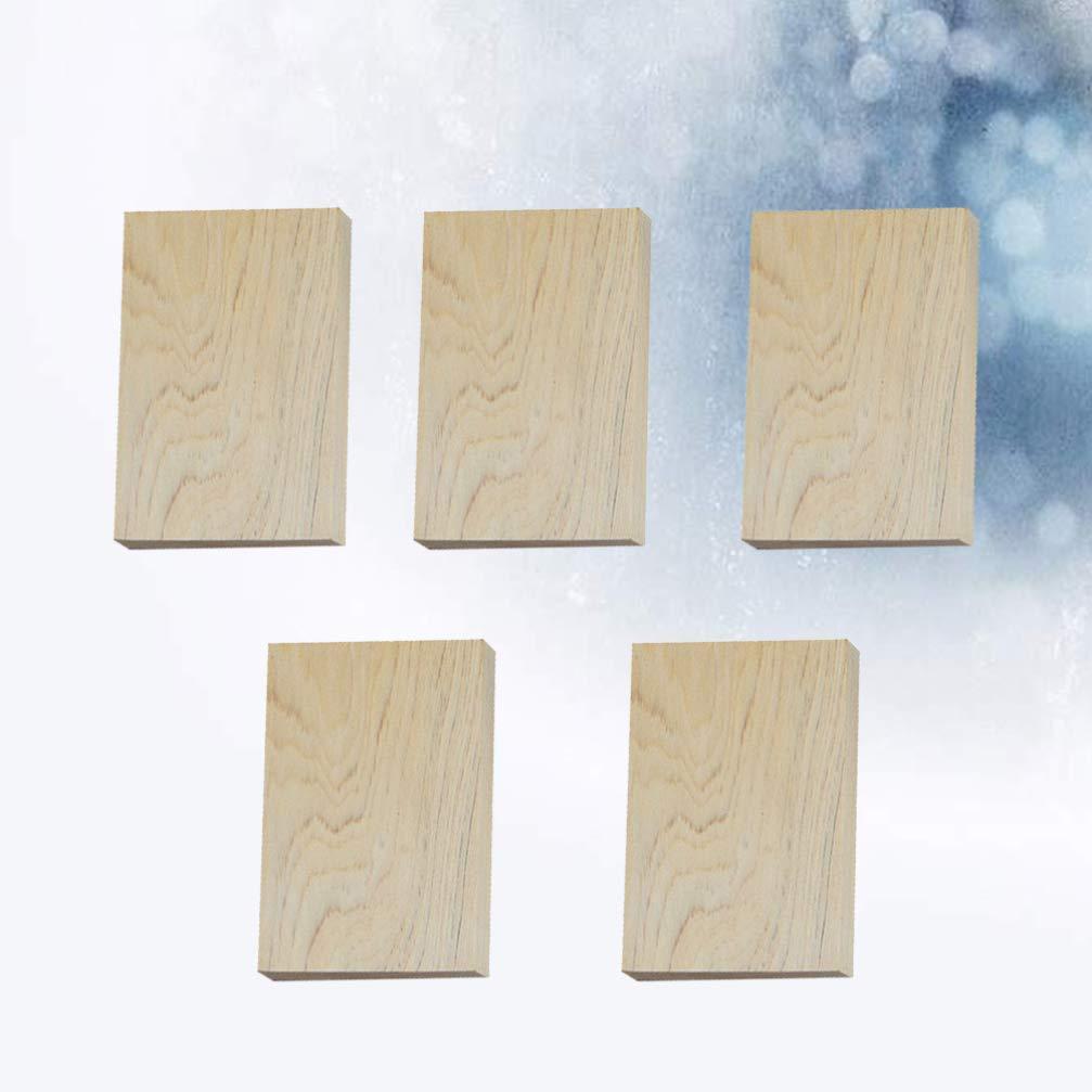 Supvox 5pcs rechteckige Holzkl/ötze unvollendete Holzkl/ötze nat/ürliche rustikale Handwerk Holz f/ür f/ür DIY-Bastelprojekte
