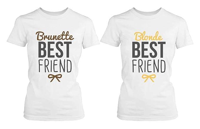 Amazon.com: Mejor amigo camisas – Rubio y Morena Best ...