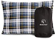REDCAMP Small Camping Pillow Lightweight and Compressible, 1PC Flannel Travel Pillow with Removable Pillow Cov
