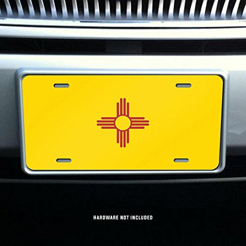 New Mexico State Flag Vanity Front License Plate Tag Printed Full Color KCFP017 KCD