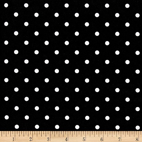 Premier Prints 0464953 Indoor/Outdoor Mini Dot Black Fabric by The Yard, ()