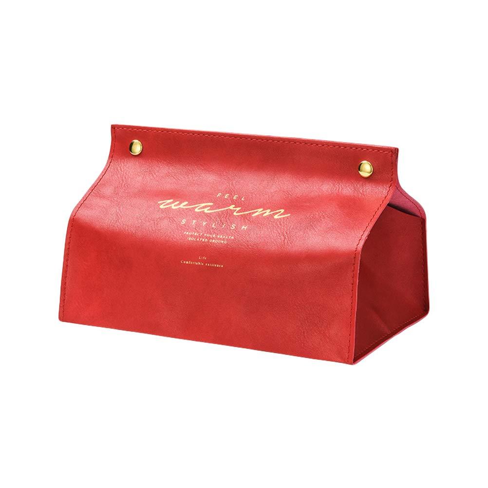 Gris EisEyen Contenedor toalla servilleta soporte de pa/ñuelos Ins n/órdico de cuero caja de pa/ñuelos de papel dispensador de papel funda para la decoraci/ón del hogar de la Oficina