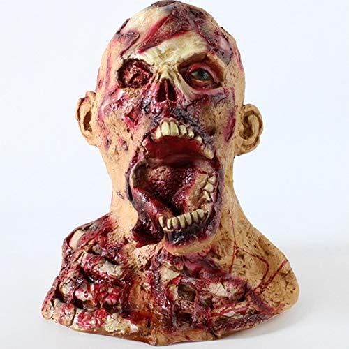Ss Halloween Mask Disgusting Zombie Terrorist Latex Mask Halloween Resident Evil Vampire Headgear Tyrann Rotten Face Nuns Mask Costume Party]()