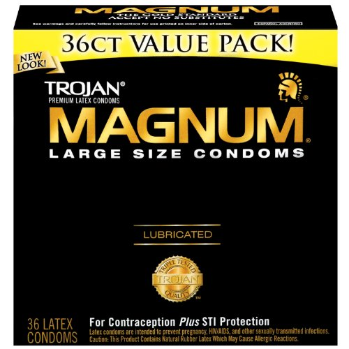 Trojan Magnum Condoms, Lubricated,Large, 36 Condoms (Pack of 2), Best Gay Men's Sex Toys
