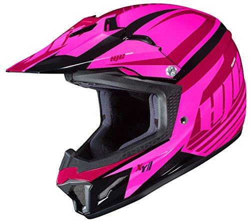 HJC CL-XY II Bator - Casco de motocross para niñas, color rosa, Casco estilo todoterreno, MC-8, Mediano