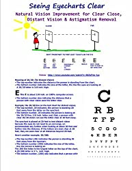 Seeing Eyecharts Clear-Natural Vision Improvement for Clear Close, Distant Vision: &  Astigmatism Removal (Black & White Edition)