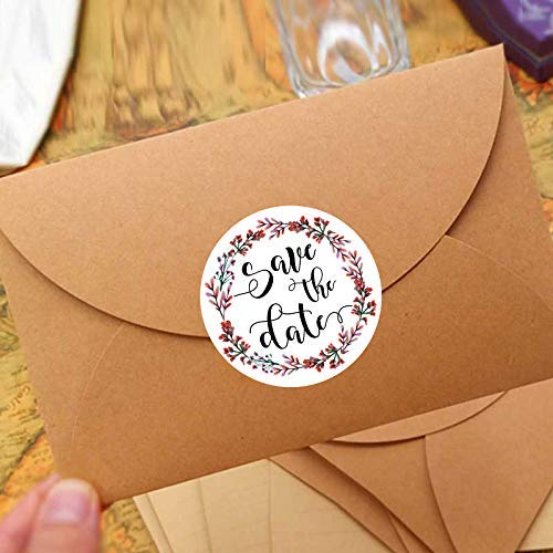 120PCS Save The Date Wedding Stickers Wedding Favor Stickers Save The Date Labels Stickers Envelope Seal Bridal Shower Stickers ()