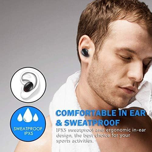 Mini Auriculares Bluetooth internos de 15 Horas para Android iOS #F4 2020 Auriculares inal/ámbricos Bluetooth con cancelaci/ón de Ruido