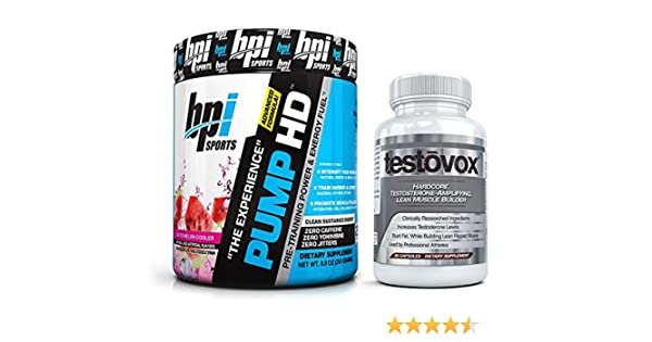 Pump HD (30 Servings) & Testovox (60 Capsules) - High Performance Muscle Building, Strength...