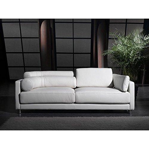 Designer Leder-Sofa-3 Sitzer Garnitur Couch neu 351-3-W