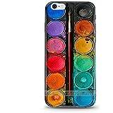ITGM | iPhone 6, 6S Schutzhülle Tuschkasten Bunt TPU Hülle Cover Handyhülle Bumper Handytasche Hülle mit Foto Silikon Case
