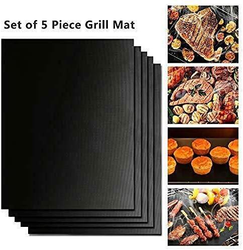 showsing Tapis pour Griller Barbecue Plaque de Barbecue et Pâtisserie en Silicone 3Pcs