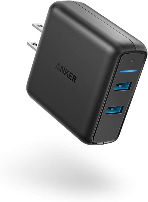 Anker Quick Charge 3.0 39W Dual USB Wall Charger, PowerPort Speed 2 for Galaxy S10/S9/S8/Edge/Plus, Note 8/7 and PowerIQ for iPhone Xs/XS ...