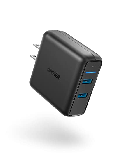 size 40 88ce4 d7396 Anker Quick Charge 3.0 39W Dual USB Wall Charger, PowerPort Speed 2 for  Galaxy S10/S9/S8/Edge/Plus, Note 8/7 and PowerIQ for iPhone Xs/XS ...