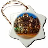 Louis Funny Snowflake Christmas Ornaments The Historic Driskell Hotel On Sixth Street Austin Texas USA Holiday Xmas Tree Hanging Decoration Ornaments - 3 inch