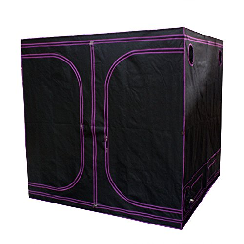 "51GkmAO8wFL - Apollo Horticulture 77""x77""x77"" Mylar Hydroponic Grow Tent for Indoor Plant Growing"