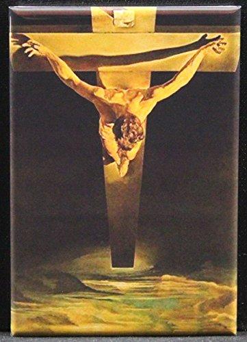 Christ of St. John of the Cross by Salvador Dali Refrigerator Magnet. (Dali Christ Of St John Of The Cross)