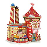Department 56 North Pole Candy Crush Factory Village Lit Building, Multicolor