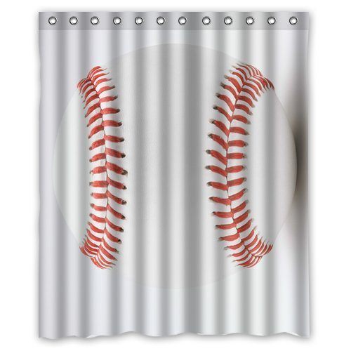 Custom Baseball Shower Curtain