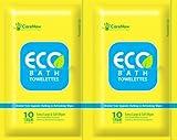 Eco Bath Towelettes Antiseptic Adult Bathing 10 Wipes - Extra Large (Pack of 2)