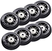 TOBWOLF 70mm 82A, 76mm 84A Roller Blade Wheels 8 Pack Replacement Inline Skate Wheels with Bearings ABEC 7 - B
