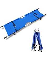 Medical Folding Stretcher,First Aid Rescue Stretcher,Aluminum Alloy Portable Stretcher With Handles,Blue,A