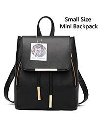 Fashion Shoulder Bag Rucksack PU Leather Women Girls...