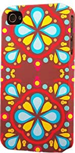 Colorful Hippie Pattern Dimensional Case Fits Apple iPhone 4 or iPhone 4s