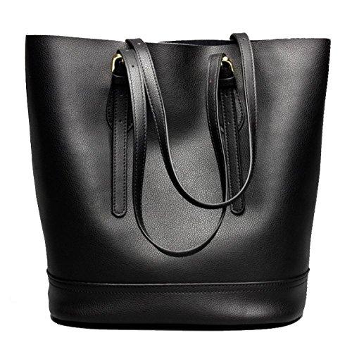 Shopping Femme Sac Main Black Une Mode AJLBT à Rencontres Sac épaule Simple Casual Pour Sac Sauvage à Seau qnZxwH1
