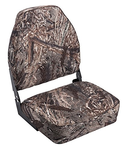 Wise High Back Boat Seat, Mossy Oak Duck Blind Camo