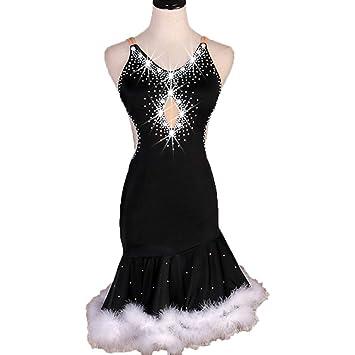 Vestidos de Baile Latino Sexy para Adultos Falda de Felpa Correas ...