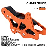 CNC Chain Guard Guide Protector For SX SX-F 2007-2020 125-530 All Models 2008-2020 SX85 2015-2020 FREERIDE 250 R 2014-2017 FREERIDE 350 2013-2017 690 ENDURO R/ABS 2008-2018 690 SMC R/ABS 2008-2010