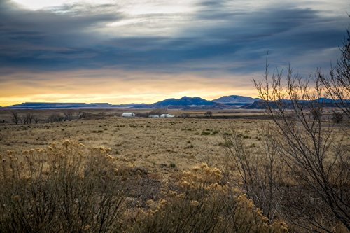 New Mexico Photography Print   Picture Of Warm Sky Over Golden Landscape Near Raton Western Home Decor 5X7 To 30X45