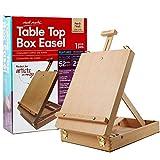 Mont Marte Adjustable Table Top Wood Box Easel, Portable Art Sketch Easel