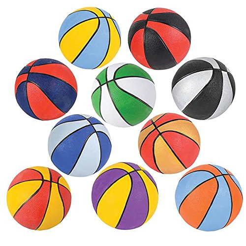 Assorted 7'' Mini Basketball Party Favors by Bottles N Bags (10 Pack) by Bottles N Bags