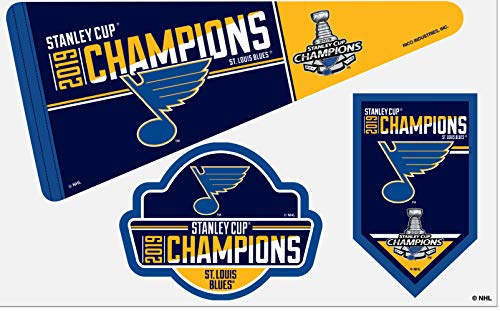 Rico Industries NHL St. Louis Blues 2019 Stanley Cup Champions Die Cut Team Magnet Set Sheet, 11, Blue