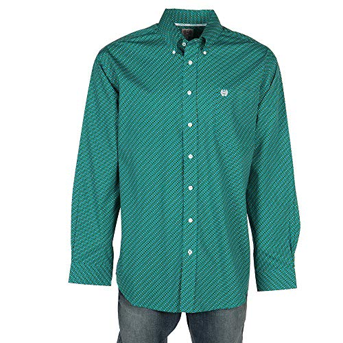 - Cinch Men's Classic Fit Long Sleeve Button One Open Pocket Print Shirt, Cesar Turquoise, L