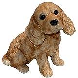 Michael Carr Designs 80095 Cocky-Cocker Spaniel Puppy Statue, Medium, Brown
