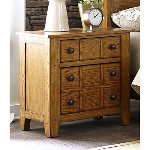 Bowery Hill 2 Drawer Nightstand in Aged Oak ()